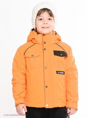 Куртка CACAO. Цвет: оранжевый