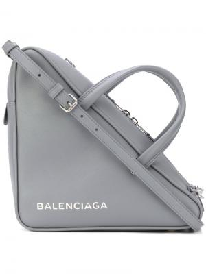 Сумка Triangle Balenciaga. Цвет: серый