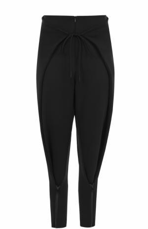 Укороченные брюки-бананы Y-3. Цвет: черный