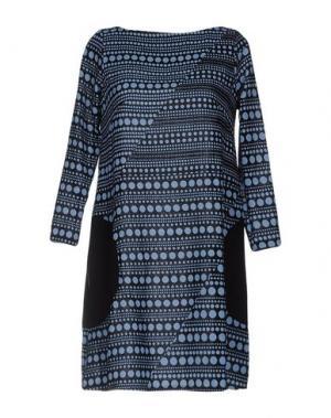 Короткое платье BINI Como. Цвет: лазурный