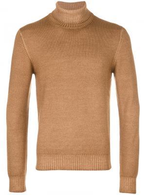 Пуловер с отворотной горловиной La Fileria For Daniello D'aniello. Цвет: телесный