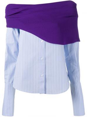 Блузка в стиле колор-блок Jacquemus. Цвет: синий