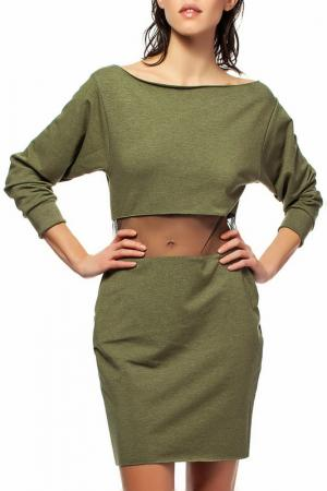 Платье BeWear. Цвет: khaki