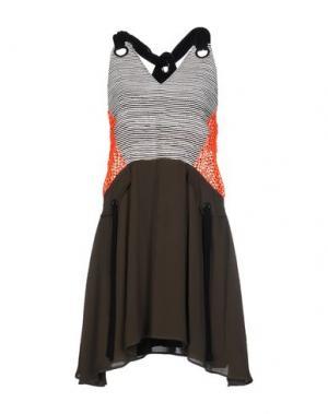 Короткое платье DAMIR DOMA. Цвет: зеленый-милитари