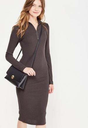 Платье Befree. Цвет: коричневый