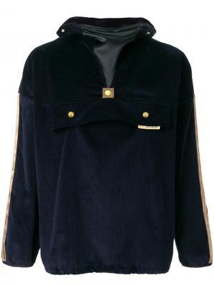 Бархатная куртка с капюшоном Astrid Andersen. Цвет: синий