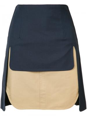 Double layer skirt Toga. Цвет: синий