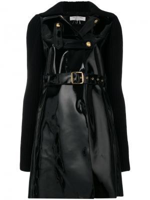 Пальто с поясом Philosophy Di Lorenzo Serafini. Цвет: чёрный