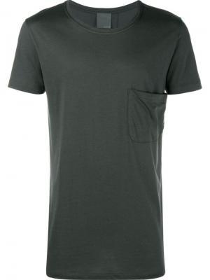 Рубашка с накладным карманом Lot78. Цвет: серый