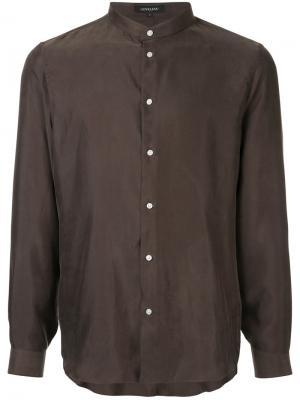 Рубашка с круглым вырезом Loveless. Цвет: коричневый