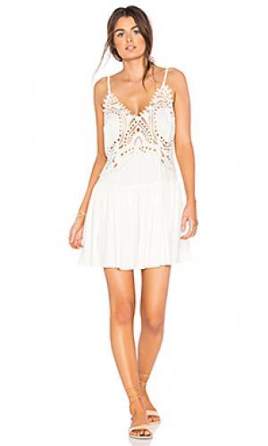 Короткое платье biarritz Cleobella. Цвет: ivory