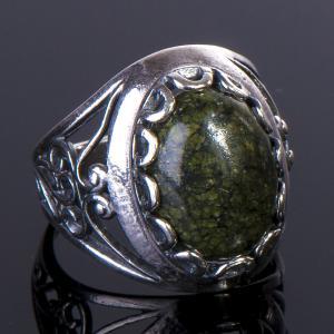Кольцо дарья змеевик Бусики-Колечки