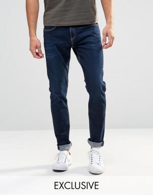 D.I.E Синие супероблегающие джинсы . Smoke. Цвет: синий