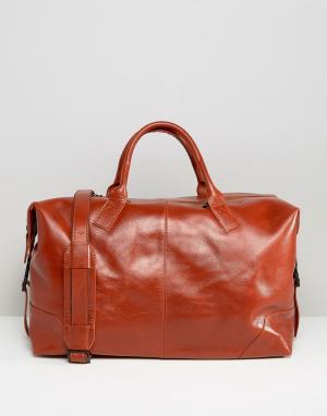 Royal RepubliQ Кожаная сумка Supreme. Цвет: коричневый