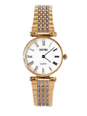 Часы SKMEI. Цвет: белый, золотистый, серебристый
