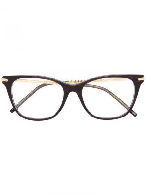 Очки с квадратной оправой Boucheron. Цвет: коричневый