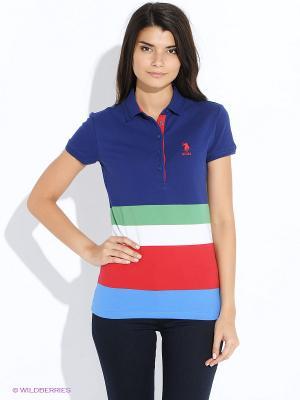 Футболка U.S. Polo Assn.. Цвет: темно-синий, зеленый, красный