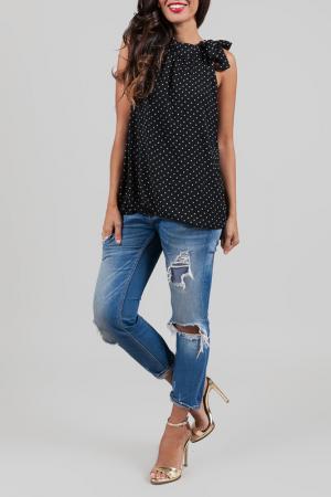 Блуза ANABELLE. Цвет: черный