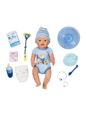 Игрушка BABY born Кукла-мальчик Интерактивная, 43 см, кор. ZAPF. Цвет: розовый, голубой