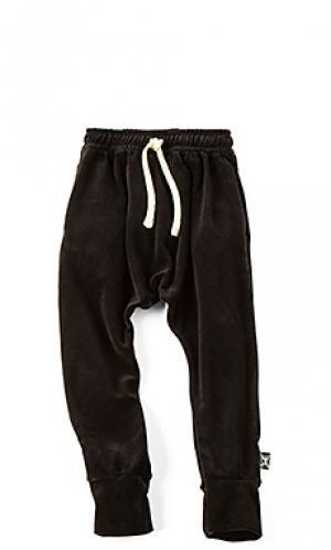Вельветовые мешковатые брюки Nununu. Цвет: черный