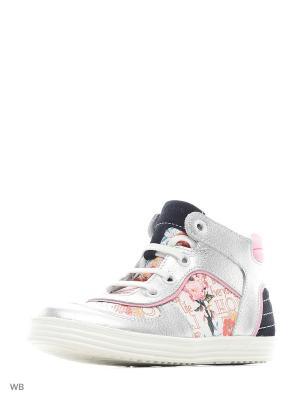 Ботинки ELEGAMI. Цвет: серебристый