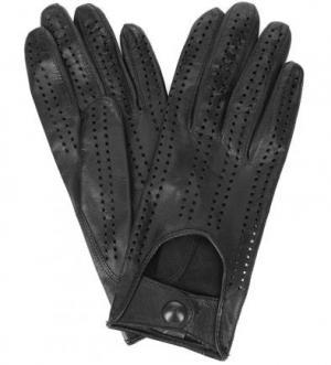 Кожаные перчатки на кнопках Bartoc. Цвет: черный