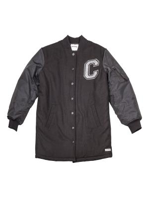 Пальто Long MA-1 Baseball Jacket Converse. Цвет: черный