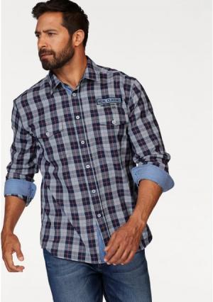 Рубашка MANS WORLD MAN'S. Цвет: синий/красный/светло-синий