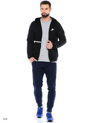 Толстовка M NSW HOODIE FZ FLC HYBRID Nike. Цвет: черный, белый