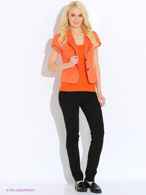 Жакет Oodji. Цвет: оранжевый