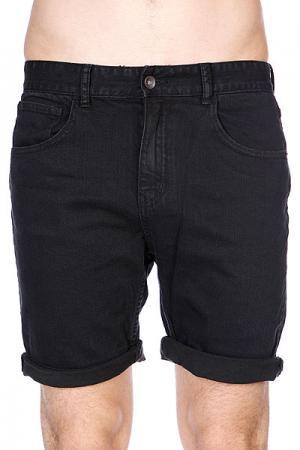Шорты джинсовые  Goodstock Denim Walkshort Blue/Black Globe. Цвет: черный