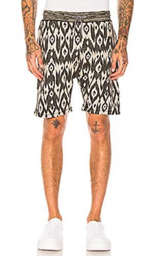 Пляжные шорты из жаккардовой ткани Scotch & Soda. Цвет: серый