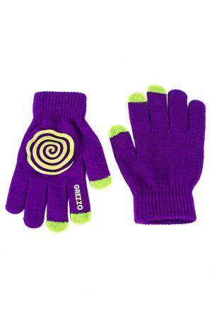 Перчатки для смартфонов Grezzo. Цвет: фиолетовый