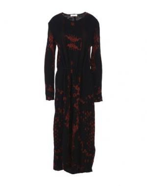 Платье длиной 3/4 MANOSTORTI. Цвет: красный