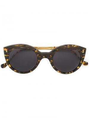 Солнцезащитные очки Palm Beach Illesteva. Цвет: коричневый