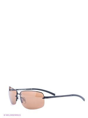 Очки Legna. Цвет: коричневый