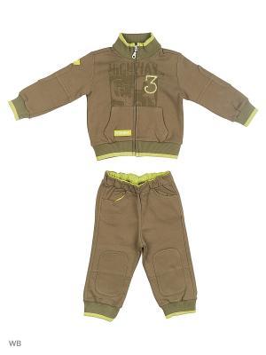 Комплект одежды для малышей IDEXE. Цвет: хаки