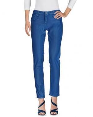 Джинсовые брюки BLEULAB. Цвет: лазурный