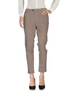 Повседневные брюки OAKS. Цвет: голубиный серый