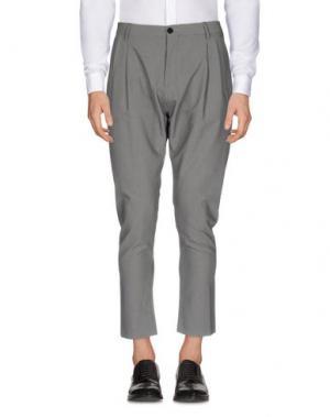 Повседневные брюки QUINTESSENCE. Цвет: серый