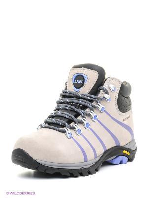 Ботинки Ascot. Цвет: серый, голубой