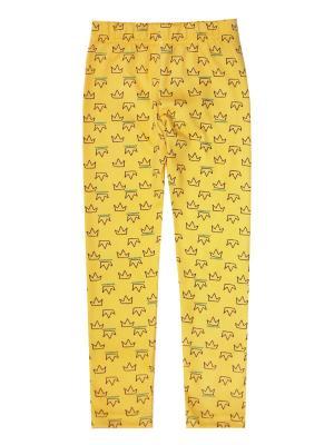 Леггинсы Коллекция Корона КОТМАРКОТ. Цвет: бирюзовый, желтый, молочный