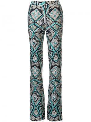 Жаккардовые брюки Monique Lhuillier. Цвет: чёрный