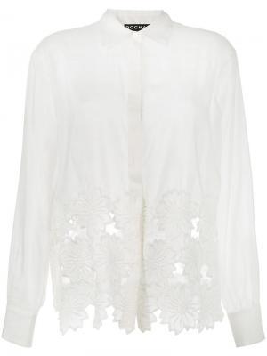 Рубашка с кружевным подолом Rochas. Цвет: телесный