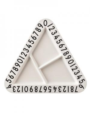 Тарелка Design Letters. Цвет: белый и черный