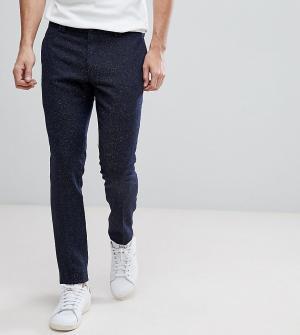 Noak Суперзауженные брюки крапчатой расцветки. Цвет: темно-синий