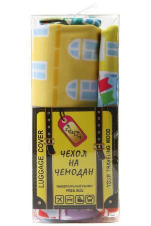 Чехол на чемодан SOVA COVER. Цвет: зимний город