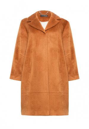 Пальто Lucky Move. Цвет: коричневый
