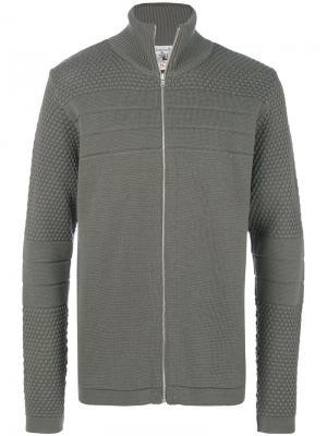 Трикотажный свитер на молнии S.N.S. Herning. Цвет: зелёный