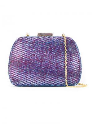 Декорированная сумка-футляр Serpui. Цвет: розовый и фиолетовый